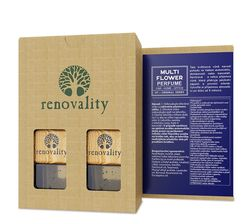 Renovality - Multi Flower Car Perfume, vůně do interiéru, 2x7 ml