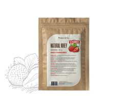 Protein&Co. NATURAL WHEY 30 g Příchuť 1: Dried strawberries